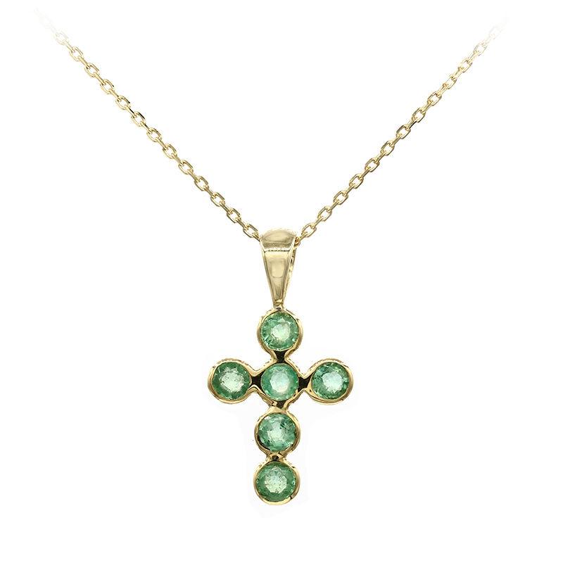 a6c3091ec2ce Collar en oro con Esmeralda-3360FH