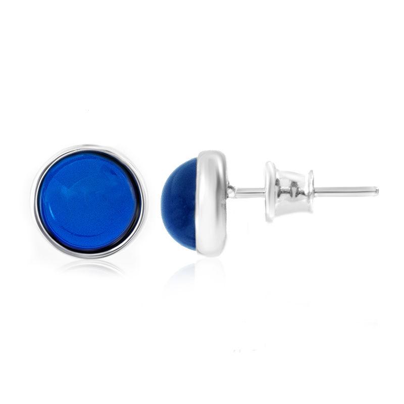 e76c6ae3c854 Pendientes en plata con Ámbar colombiano azul (dagen)-3116MG ...