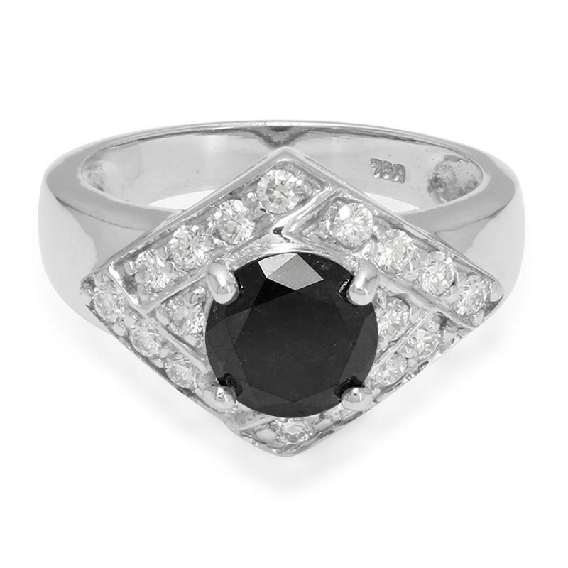 d6628e0540b8 Anillo de hombre en oro con Diamante negro-9081WY