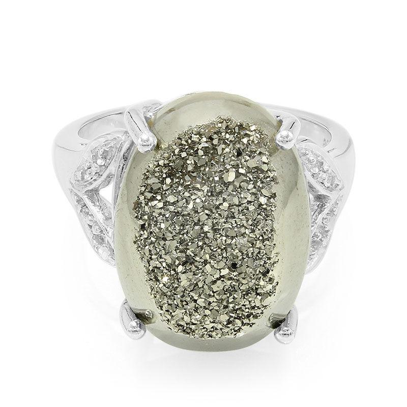 9036ab924f94 Anillo en plata con Cuarzo brillante platino-9722KO