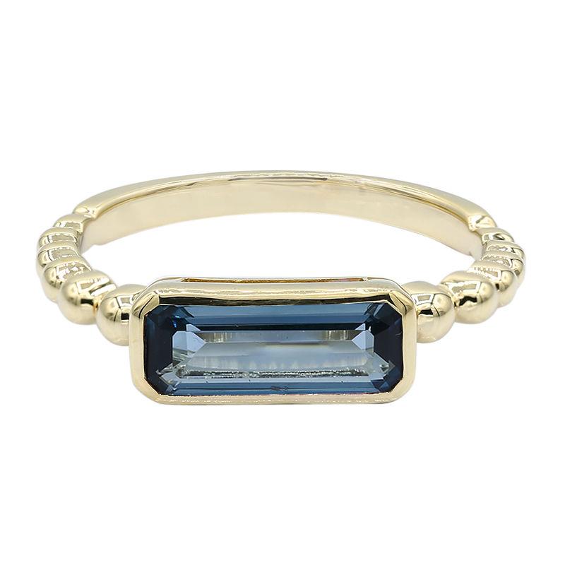 b7baf0c71481 Anillo en oro con Topacio azul de Londres-2358LC