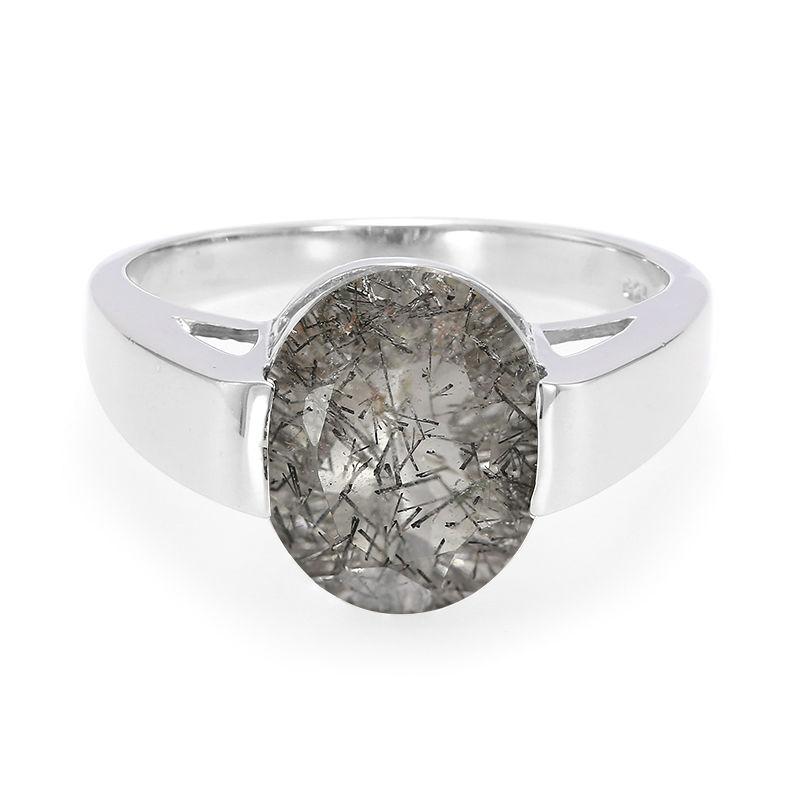 3a690992f71a Anillo en plata con Cuarzo rutilado negro-9925AA