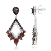 Pendientes en plata con Granate de Mozambique (Dallas Prince Designs)