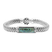 Brazalete en plata con Concha de Abalone (Nan Collection)