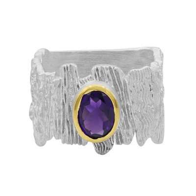 Anillo en plata con Amatista de Zambia (MONOSONO COLLECTION)