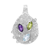 Colgante en plata con Peridoto (MONOSONO COLLECTION)