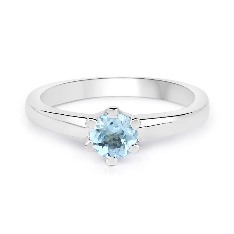 a9f7f750de7d Anillo en plata con Topacio azul cielo-9097PM