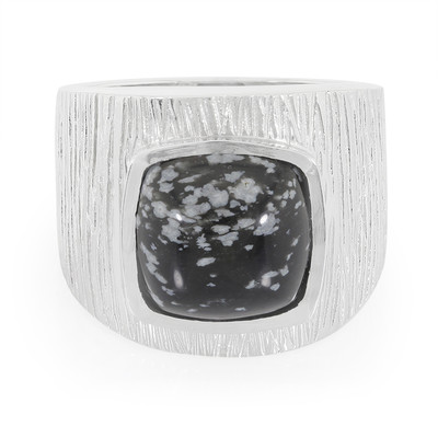 Anillo en plata con Obsidiana Copo de Nieve (MONOSONO COLLECTION)