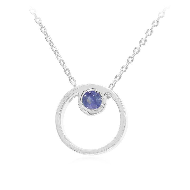3d133a6a07d8 Collar en plata con Zafiro azul-6798OY