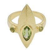 Anillo en plata con Peridoto (MONOSONO COLLECTION)