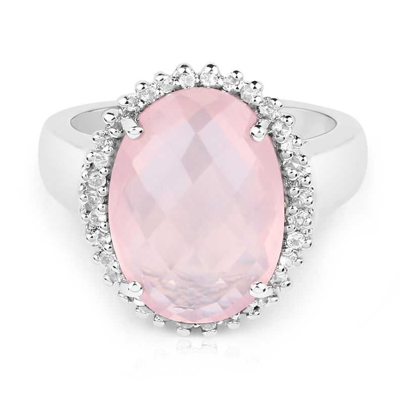 cc97b94434f0 Anillo en plata con Cuarzo rosa-9041LR
