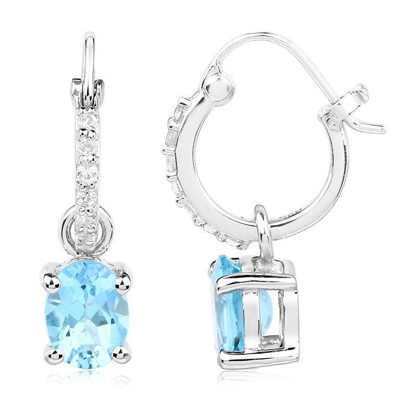 0a390f763ed9 Pendientes en plata con Topacio azul suizo-1090IK