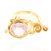 Anillo en plata con Cuarzo rosa (MONOSONO COLLECTION)