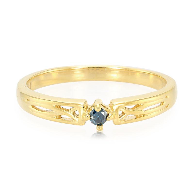 fb9a7bb29a1c Anillo de hombre en plata con Diamante azul rey (Cavill)-9012AT ...
