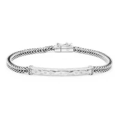 Brazalete en plata con Diamante (Nan Collection)