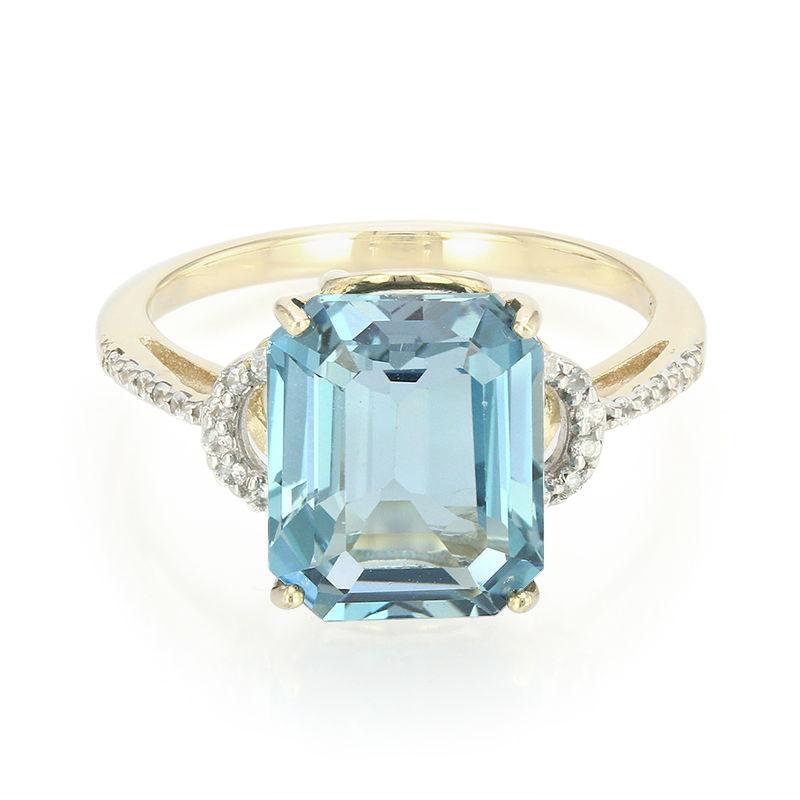 2e29ff1262f4 Anillo en oro con Topacio azul de Londres-5221BF