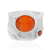 Anillo en plata con Cornalina (MONOSONO COLLECTION)