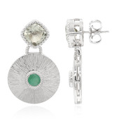 Pendientes en plata con Amatista verde (Memories by Vincent)