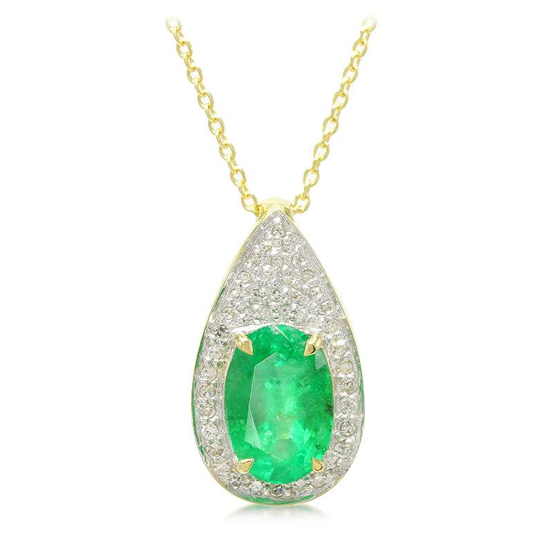 3b196af915b1 Collar en oro con Esmeralda de Zambia-6825UD