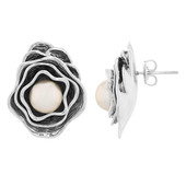 Pendientes en plata con Perla Ming (MONOSONO COLLECTION)