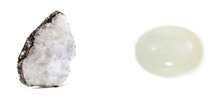 La Piedra de Luna: el cristal bruto y la gema trabajada